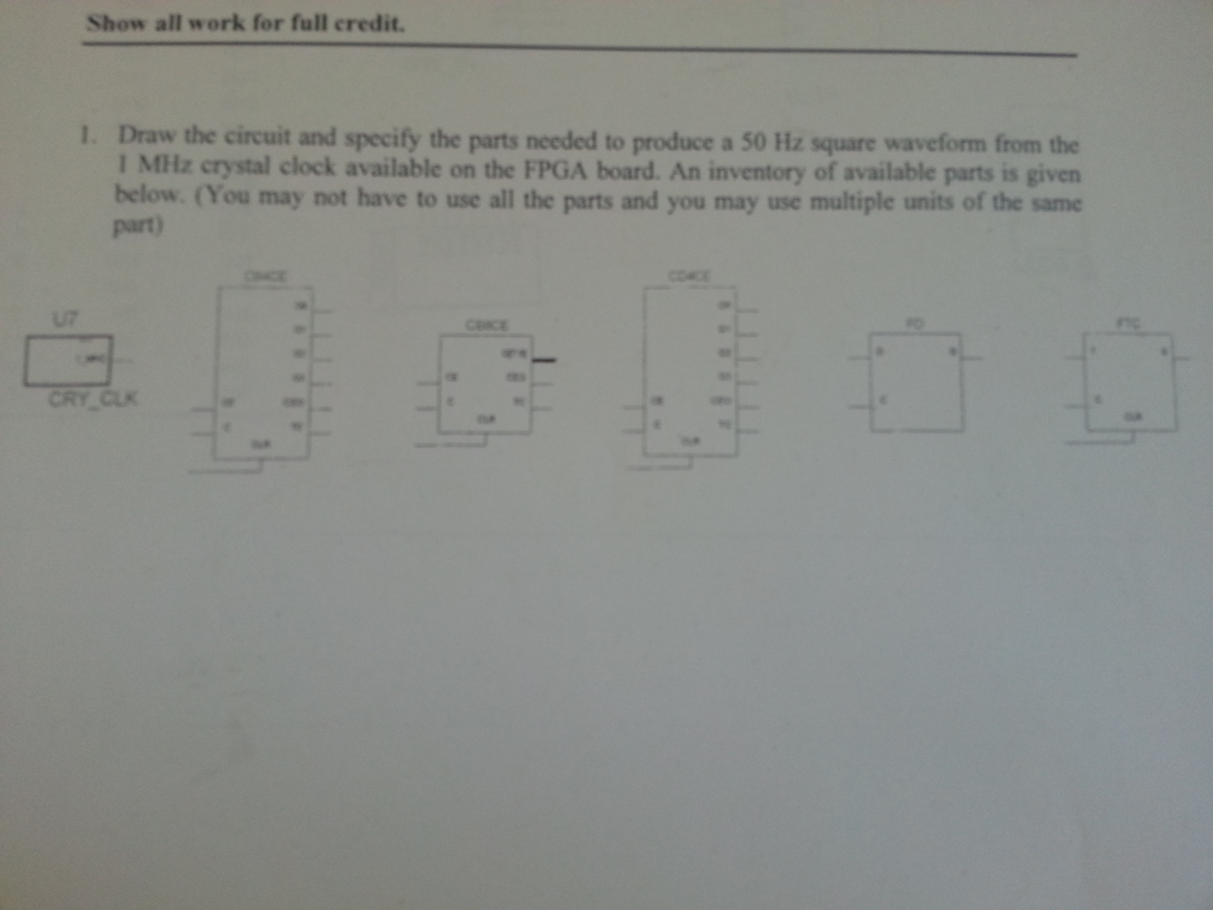 draw the circuit and specify the parts needed to p
