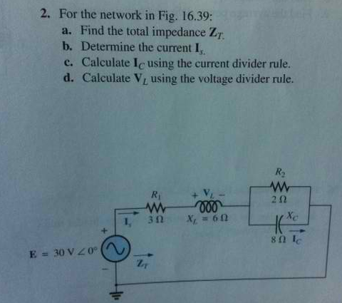 For the network in Fig. 16. 39: Find the total im