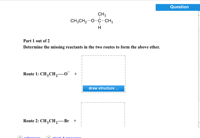 Determine the missing reactants in the two routes