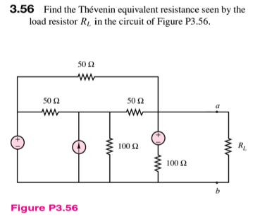 Find the Thevenin equivalent resistance seen by th