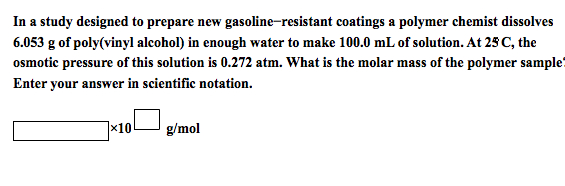 In a study designed to prepare new gasoline-resist