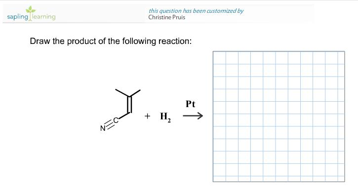 Draw the product of the following reaction: