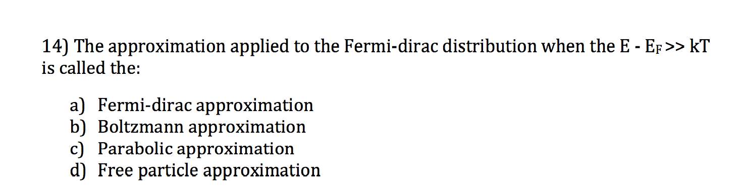The approximation applied to the Fermi-dirac distr