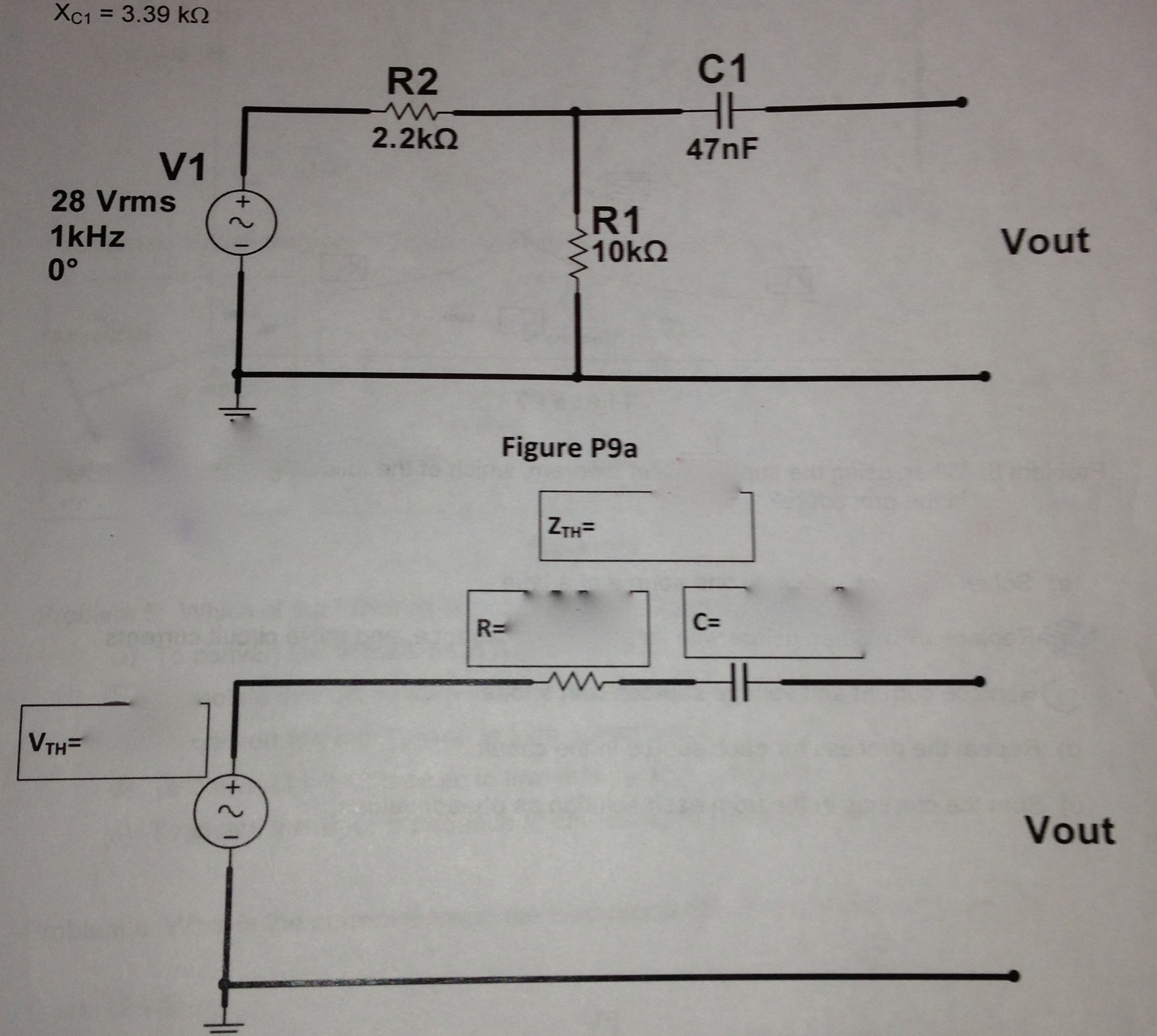Convert to Thevevin equivalent circuit and solve V