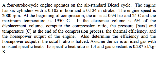 A four-stroke-cycle engine operates on the air-sta