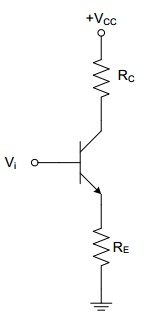 VCC= 15 V, RC= 4.7 k?, RE = 2.2 k?, and Vi= +5 V i