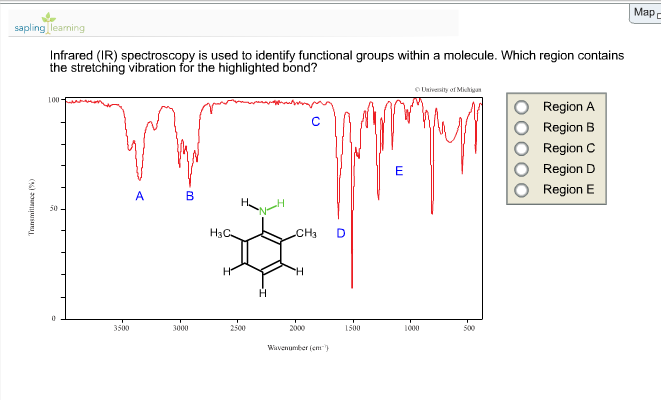 Solved n h infrared ir spectroscopy is used to identi - Infrared spectroscopy table for functional groups ...
