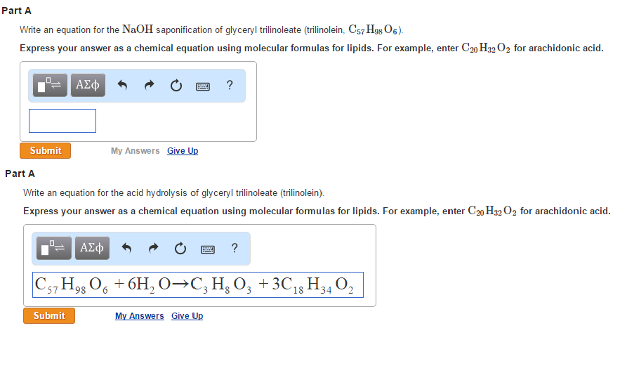 What do the subscripts in a chemical equation tell about the equation?