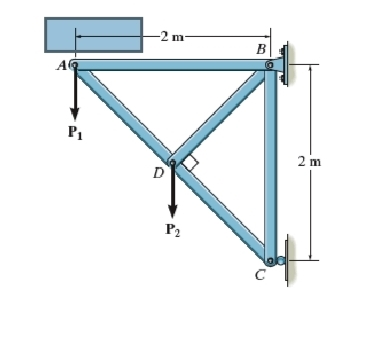 Determine the force in member BD of the truss and