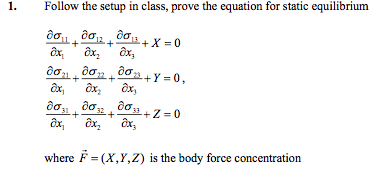 Follow the setup in class, prove the equation for