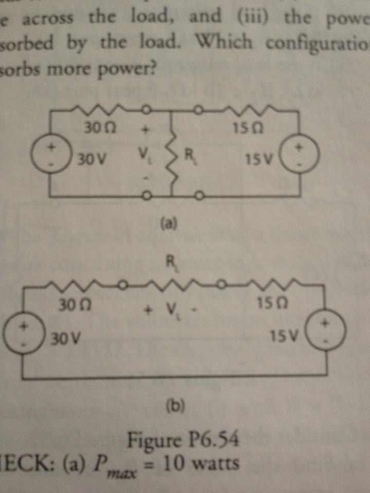 The circuits of Figure have the load resistor R(L)