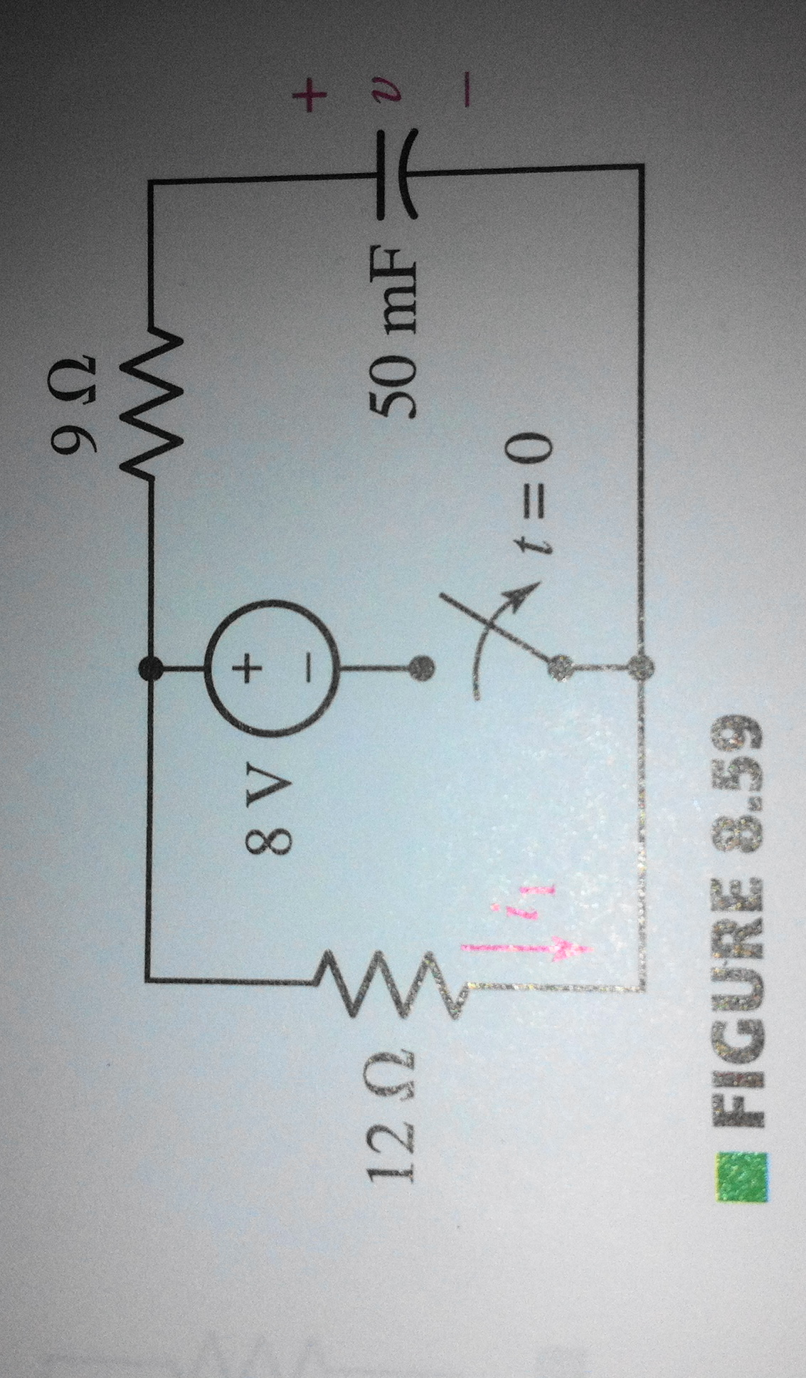 We can safely assume the switch in the circuit o