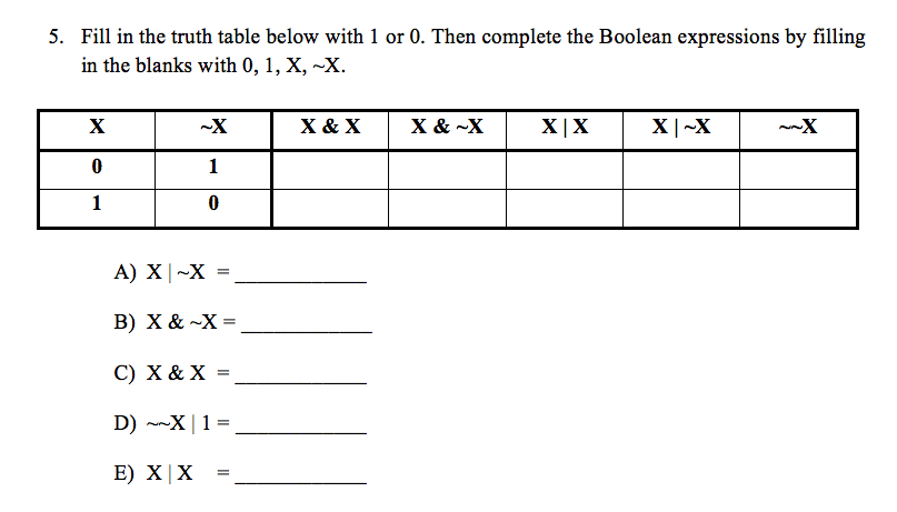 How do I do this question. I know X & X, X|X (
