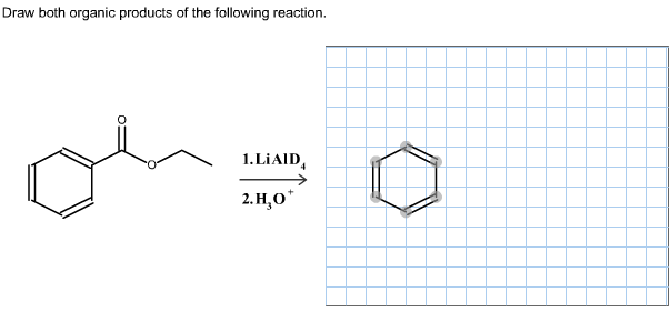 Draw the organic product of the following reaction