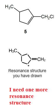 The structure labled (5) is the original, I need t
