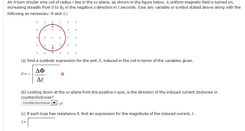 An N Turn Circular Wire Coil Of Radius R Lies In T Chegg