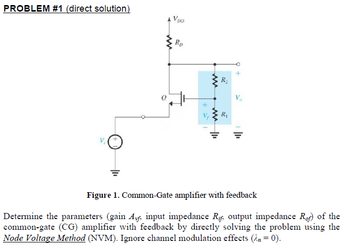 Figure 1. Common-Gate amplifier with feedback Det