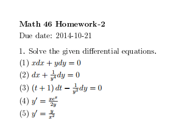 Homework help differential equtions