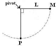 A simple pendulum of length L has a point mass M r