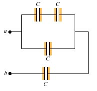 In the figure below(Figure 1) , each capacitor has