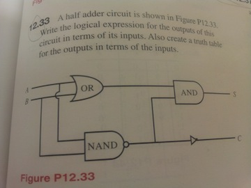 A half leader circuit is shown in the figure P12.3
