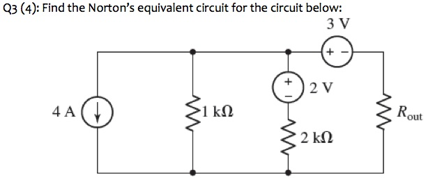 Find the Norton's equivalent circuit for the circu