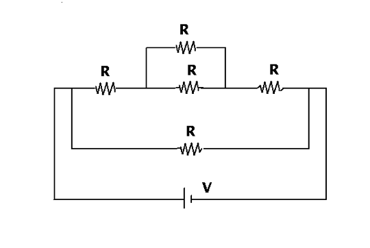What is the equivalent resistance, in ohms, of the