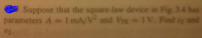 Suppose that the square-law device in the fir 3.4
