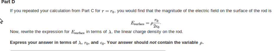 If you repeated your calculation from Part C for r