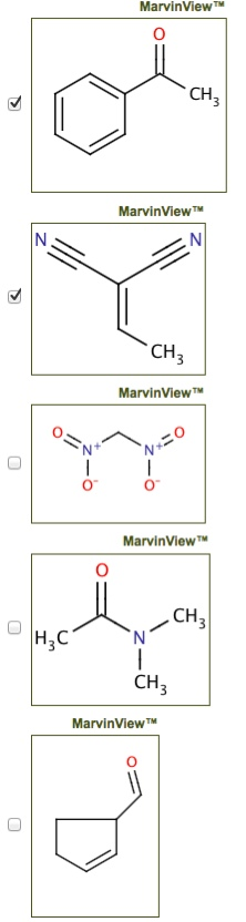 Select all of the molecules that can be used as Mi