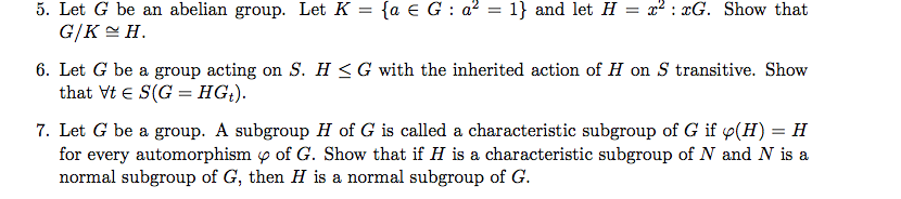 Let G be an abelian group. Let K = {a G : a2 = 1}