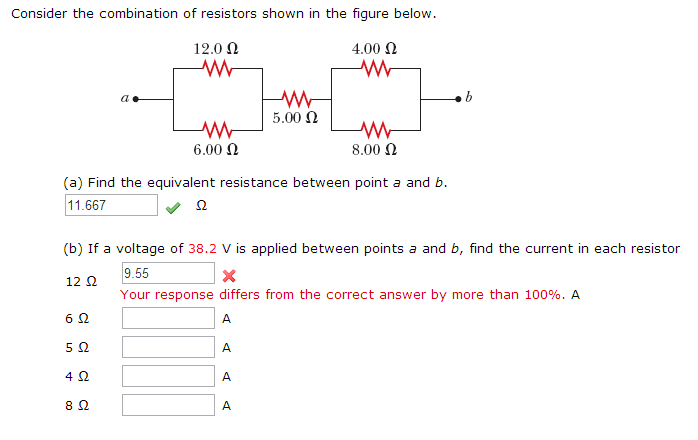 Consider the combination of resistors shown in the