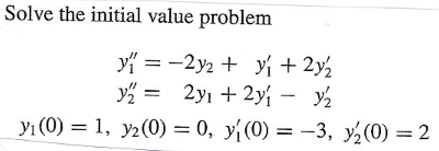 Solve the initial value problem y