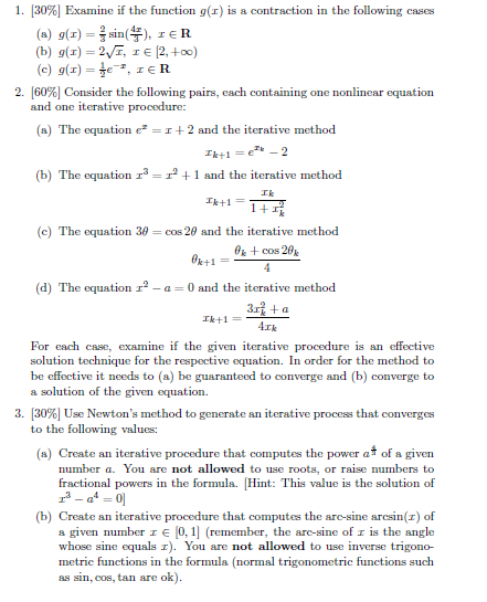 [30%] Examine if the function g(x) is a contractio