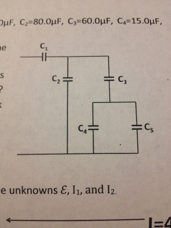 In the figure below is a network of capacitors. C1