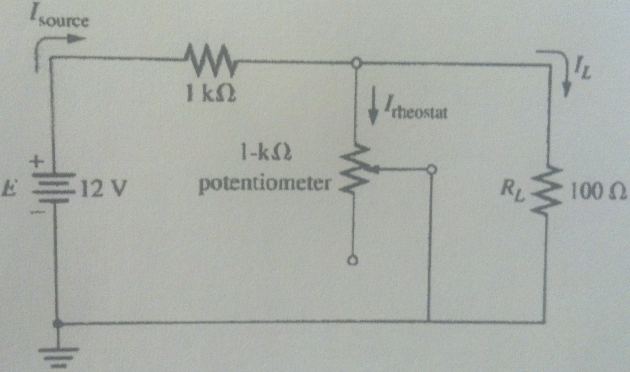 Current control using a potentiometer can also be
