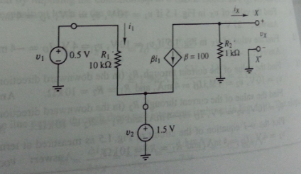Plot the upsilon-i equation of the circuit of Fig