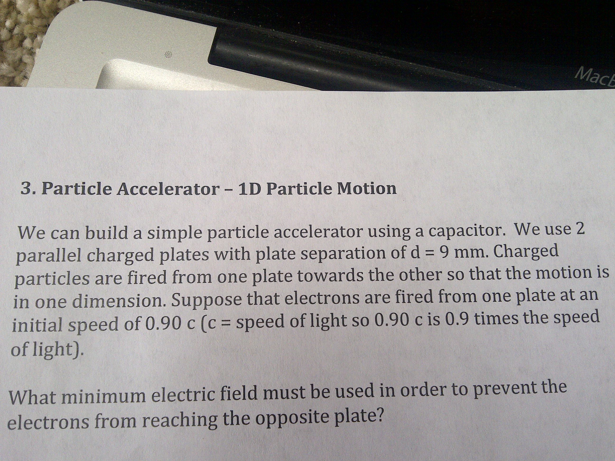 We can build a simple particle accelerator using a