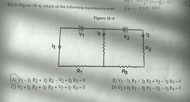 in figure 18-4 which of the following equations is