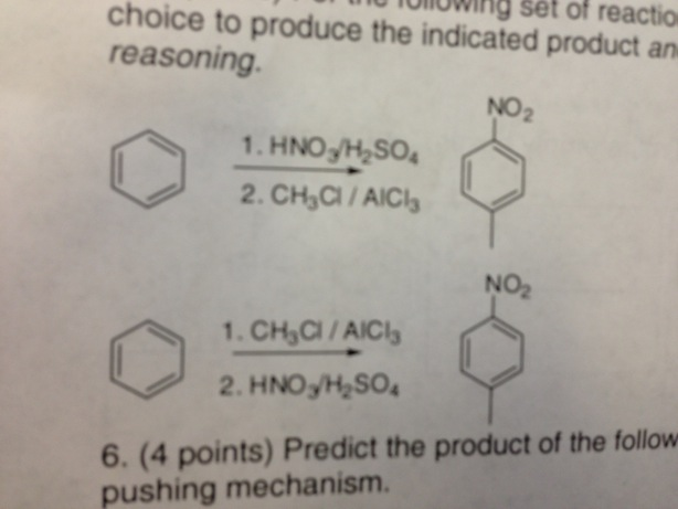 Following set of reaction choice to produce the in