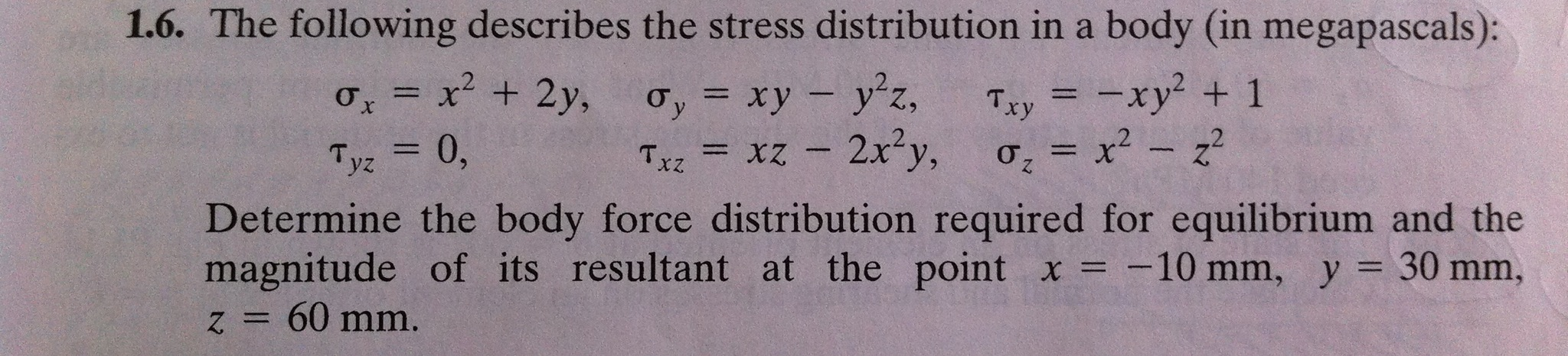 The following describes the stress distribution in