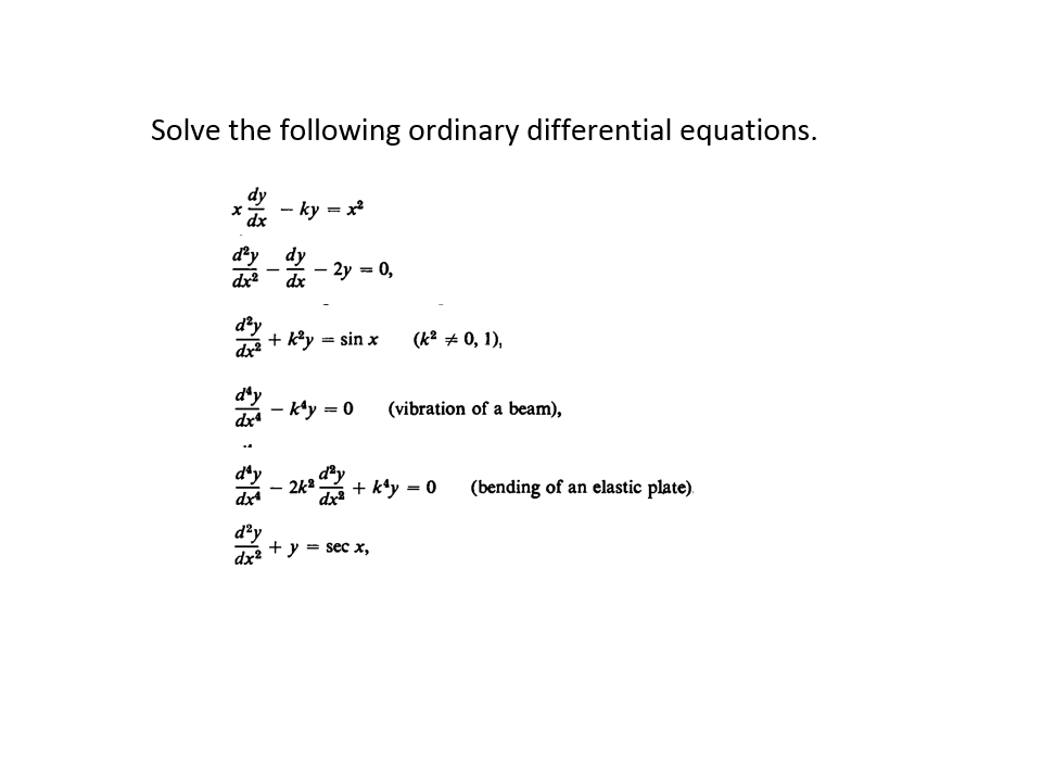 mit opencourseware ordinary differential equations A free course offered by the massachusetts institute of technology (mit), 'nonlinear dynamics i: chaos' covers the phenomenology and theory of nonlinear dynamics and chaos this opencourseware from mit is intended for undergraduates majoring in engineering and science.