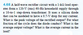 Diodes. Half-wave rectifier as described by the im