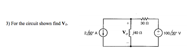 For the circuit shown find V0.