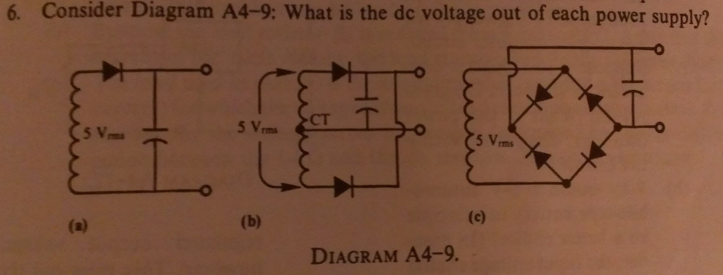 Consider Diagram A4-9: What is the dc voltage out