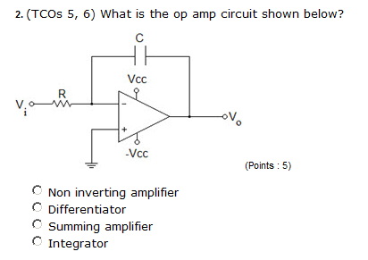 What is the op amp circuit shown below? Non inver