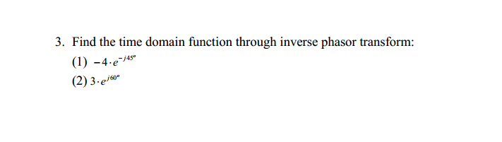 Find the time domain function through inverse phas