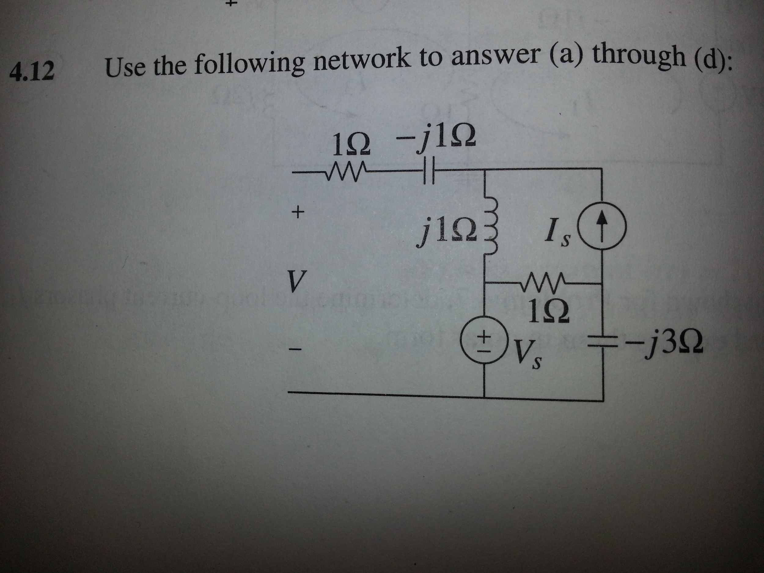 What is the phasor V when Is=0 ? Wast is the phaso