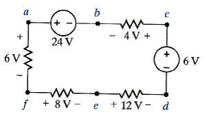 Find Vad and Veb using Kirchhoff's voltage law in