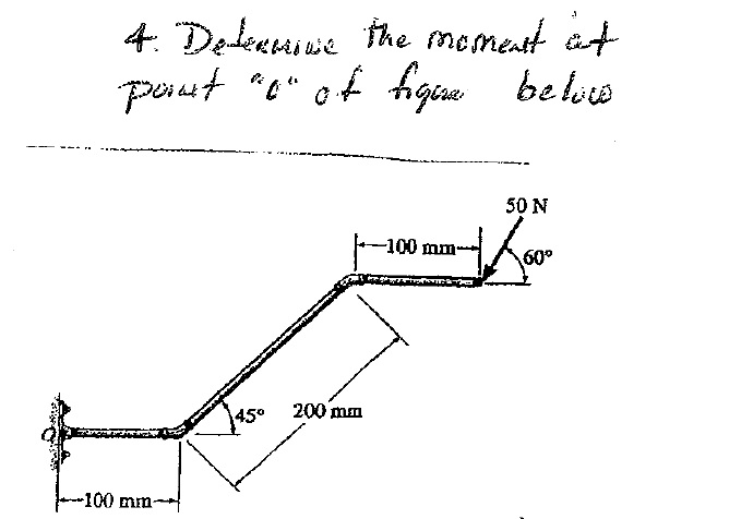 Determine the moment of point